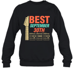 Best Guitar Dad Chords Birthday September 30th Crewneck Sweatshirt Tee