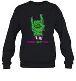 Zombie Aunt Rock Halloween Crewneck Sweatshirt Family Tee
