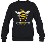 Zombee Family Halloween Zombie Bee Mom Crewneck Sweatshirt Tee
