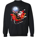 Rottweiler Santa Sleigh Christmas Dog Sweatshirt Xmas Gift HT209-99Paws-com