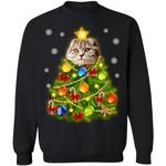 Scottish Fold Cat Christmas Tree Sweater Xmas Gift Idea TT11-99Paws-com