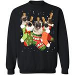 Pug Stocking Christmas Sweatshirt Xmas Gift Dog Lover K11-99Paws-com