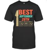 Best Guitar Dad Chords Birthday September 28th T-shirt Tee