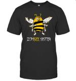 Zombee Family Halloween Zombie Bee Sister T-shirt Tee