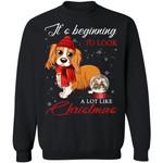 American Spaniel It's Beginning A Lot Like Christmas Sweatshirt HA11-99Paws-com