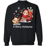 A Merry Christmas Santa American Foxhound Dog Sweatshirt Xmas Gift MN11-99Paws-com