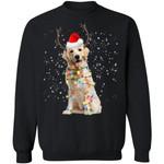 Golden Dog Reindeer Xmas Light Sweatshirt Christmas Gift For Dog Lover-99Paws-com