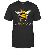 Zombee Family Halloween Zombie Bee Papa T-shirt Tee