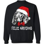 Pointer Feliz Navidog Dog Christmas Sweater Xmas Gift VA11-99Paws-com