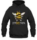 Zombee Family Halloween Zombie Bee Papa Hoodie Sweatshirt Tee