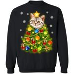 American Shorthair Cat Christmas Tree Sweater Xmas Gift Idea TT11-99Paws-com