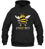 Zombee Family Halloween Zombie Bee Niece Hoodie Sweatshirt Tee