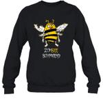 Zombee Family Halloween Zombie Bee Boyfriend Crewneck Sweatshirt Tee