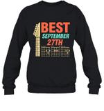 Best Guitar Dad Chords Birthday September 27th Crewneck Sweatshirt Tee