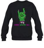 Zombie Grandma Rock Halloween Crewneck Sweatshirt Family Tee