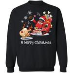A Merry Christmas Rottweiler Dog Santa Xmas Sweatshirt Gift Idea MN11-99Paws-com