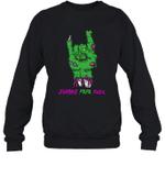 Zombie Papa Rock Halloween Crewneck Sweatshirt Tee