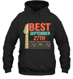 Best Guitar Dad Chords Birthday September 27th Hoodie Sweatshirt Tee