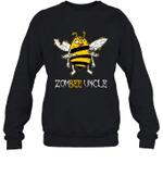 Zombee Family Halloween Zombie Bee Uncle Crewneck Sweatshirt Tee