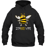Zombee Family Halloween Zombie Bee Wife Hoodie Sweatshirt Tee