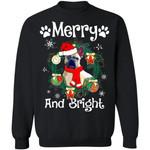 Merry And Bright French Bulldog Xmas Sweater