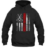 American Flag Hockey Family Hockey Grandma Hoodie Sweatshirt