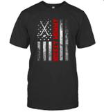 American Flag Hockey Family Hockey Mommy T-shirt