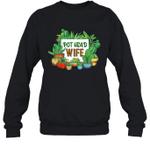 Pot Head Family Gardening Wife Crewneck Sweatshirt