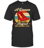 A Queen Was Born Vintage High Heels Augus T-shirt