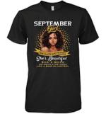 September Girl She Slays,She Prays Shes Beautiful Birthday Sleeve Crew
