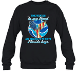 The Voice In My Head Telling Me To Go Fishing At Florida Keys Crewneck Sweatshirt