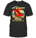A Queen Was Born Vintage High Heels Ma T-shirt