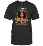 June Girl She Slays,She Pray She's Beautiful Birthday T-shirt Tee