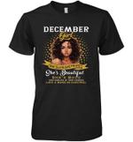 December Girl She Slays,She Prays She's Beautiful Birthday Sleeve Crew Tee