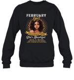 February Girl She Slays,She Prays She's Beautiful Birthday Crewneck Sweatshirt Tee