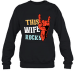 This Family Rock Wife Crewneck Sweatshirt