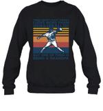 Aren t Many Things I Love Than Baseball But Being Grandpa Family Crewneck Sweatshirt
