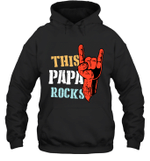 This Family Rock Papa Hoodie Sweatshirt