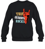 This Family Rocks Grandpa Crewneck Sweatshirt Tee