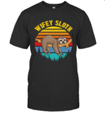 Sloth Funny Family Wifey T-shirt