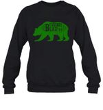 Papa Bear Hunting Hubby Family Crewneck Sweatshirt