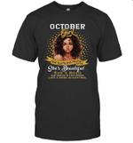 October Girl She Slays,She Prays Shes Beautiful Birthday T-shirt