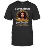 September Girl She Slays,She Prays Shes Beautiful Birthday T-shirt