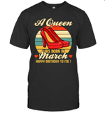 A Queen Was Born Vintage High Heels Marc T-shirt