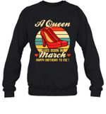 A Queen Was Born Vintage High Heels Marc Crewneck Sweatshirt