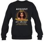 August Girl She Slays,She Prays She's Beautiful Birthday Crewneck Sweatshirt Tee