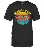 Sloth Funny Family Grandpa T-shirt