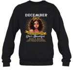 December Girl She Slays,She Prays She's Beautiful Birthday Crewneck Sweatshirt Tee