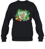 Pot Head Family Gardening Bonus Mom Crewneck Sweatshirt