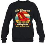 A Queen Was Born Vintage High Heels Augus Crewneck Sweatshirt